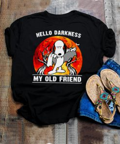 Snoopy Hello Darkness My Old Friend Moon Halloween T shirt