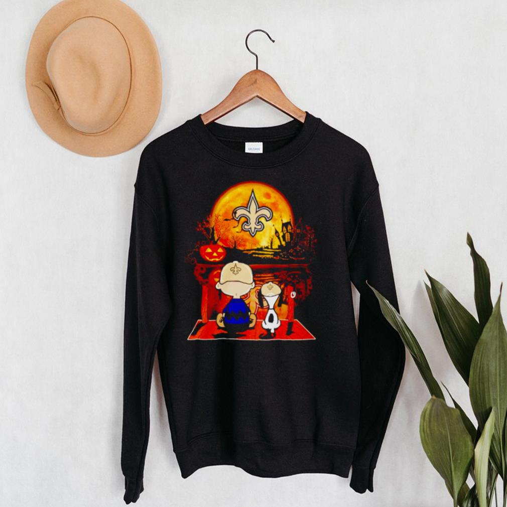 Snoopy and Charlie Brown New Orleans Saints happy Halloween shirt