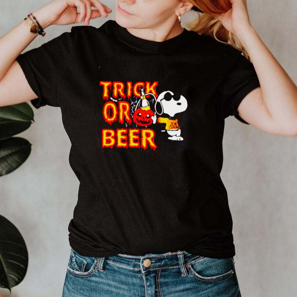 Snoopy trick or beer Halloween shirt