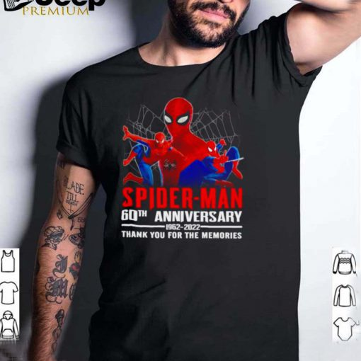 Spider Man 60th anniversary 1962 2022 thank you for the memories shirt