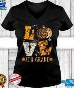 Spooky Pumpkin Love Halloween 8th Grade Teacher Student Kids T Shirt