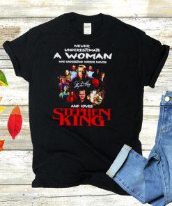 Stephen King never underestimate a woman signature shirt