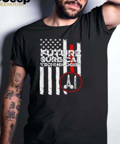 Surgical Technologist Scrub Tech Flag T Shirt