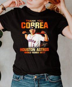 Thank you Correa Houston Astros world series 2017 signature shirt
