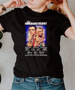 The Big Bang Theory 2007 2021 Signature Thank You For The Memories T shirt