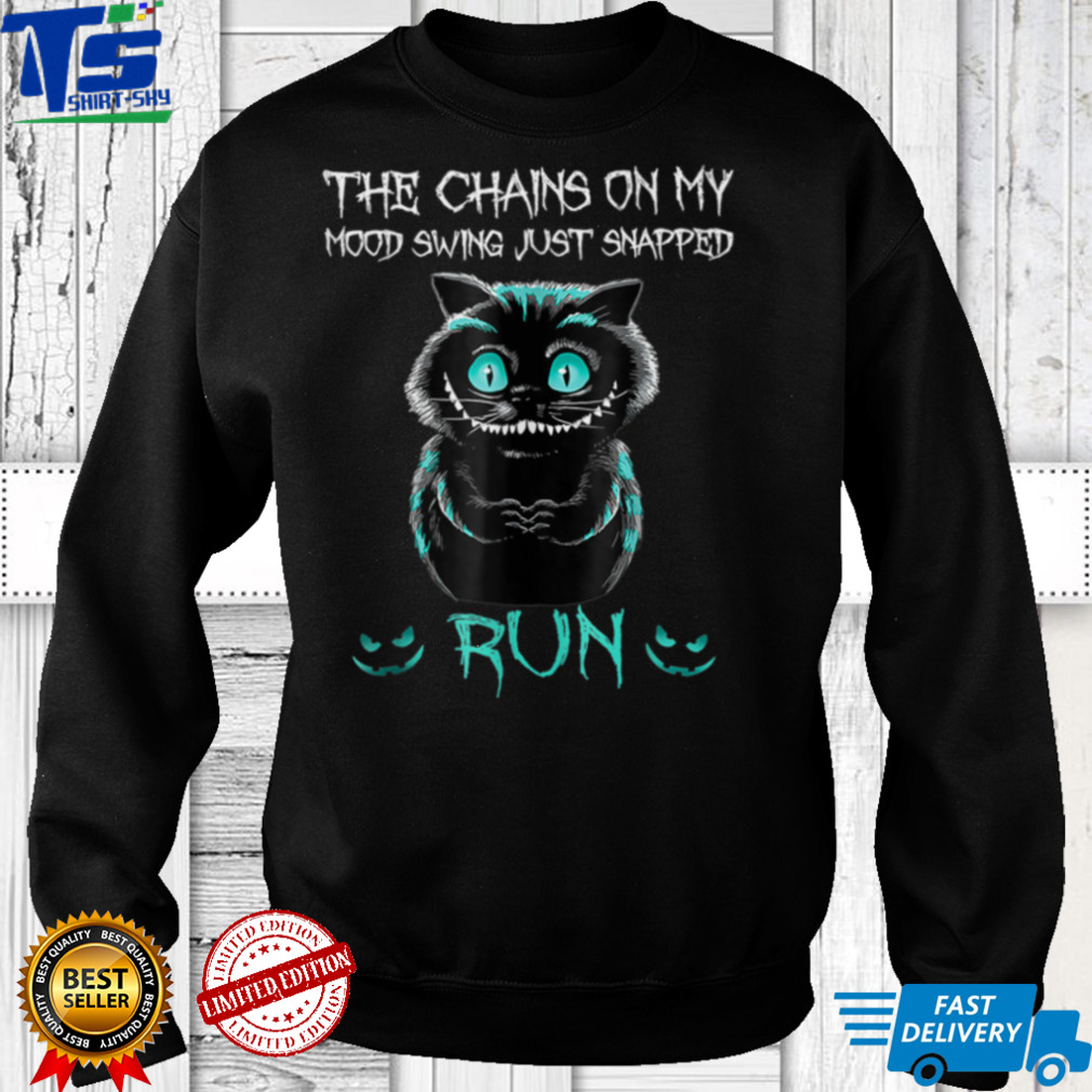 The Chain On My Mood Swing Just Snapped Run Cat Halloween Tank Top