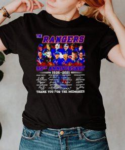 The Rangers 95th anniversary 1926 2021 signatures shirt