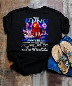 The Thing 40th anniversary 1982 2022 signatures shirt