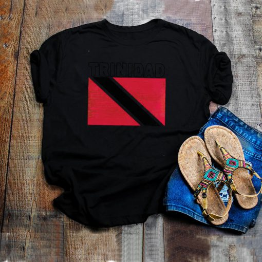 Trinidad Flag Retro National Pride Trini T shirt