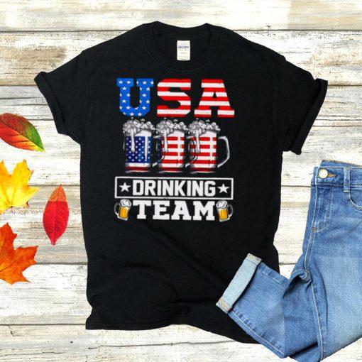 USA Drinking Team Drinking Beer T shirt