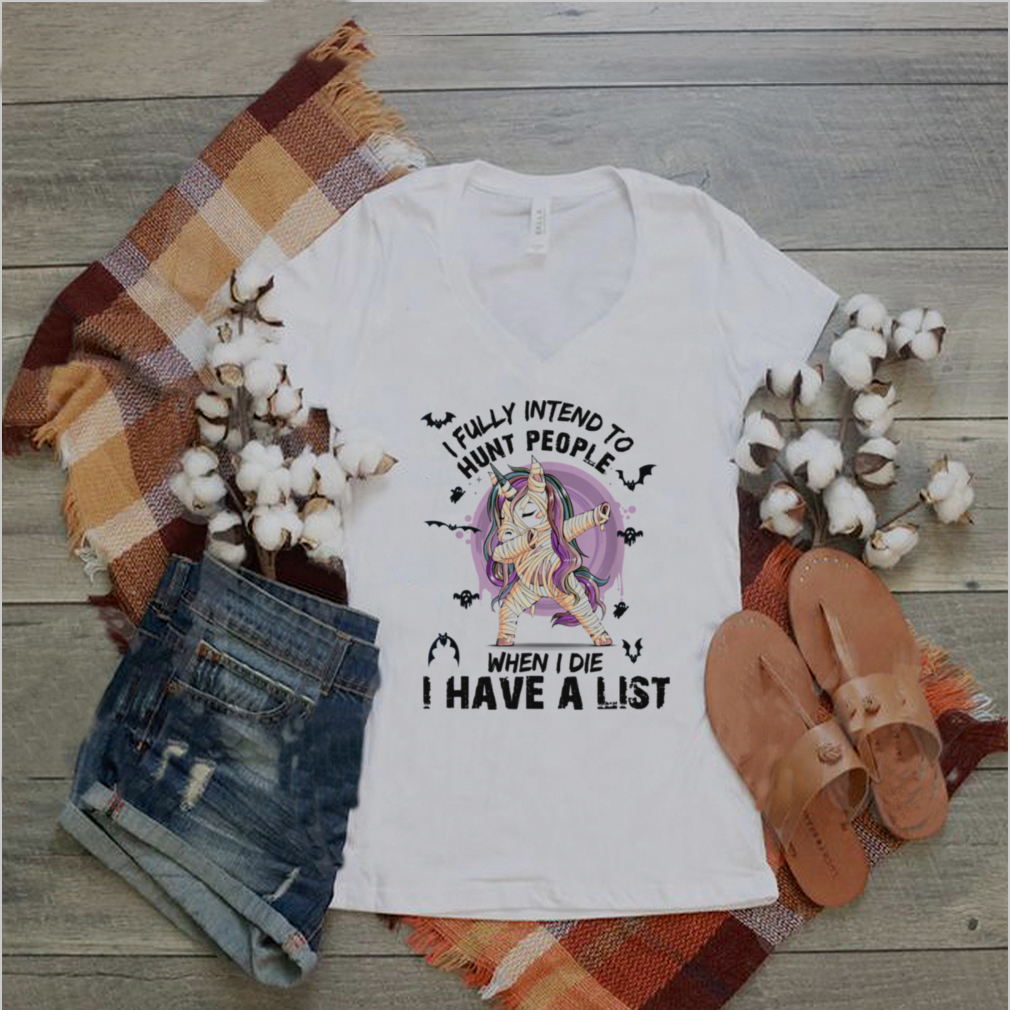 Unicorn I fully intend to haunt people when I die Halloween shirt