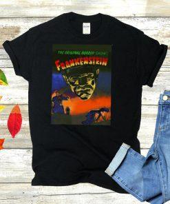 Universal Monsters Distressed The Original Horror Snow Frankenstein Movie T shirt