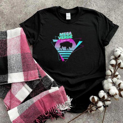 Vaporwave Mesa Verde National Park Aesthetic Souvenir shirt