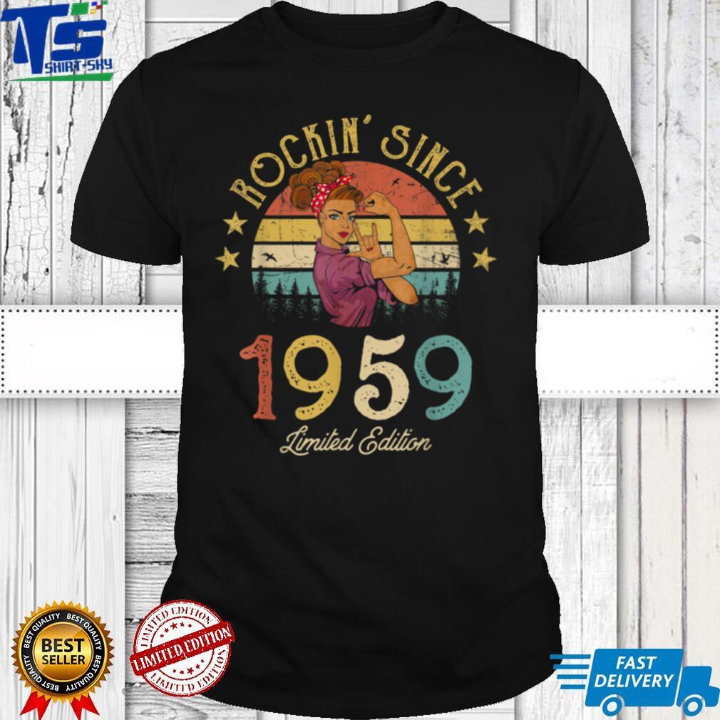 Vintage 1959 Rockin Sine 62nd Birthday Women 62 Years Old T Shirt