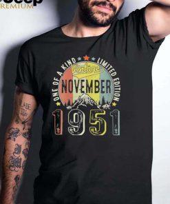 Vintage November 1951 Retro 70th Bday 70 Years shirt