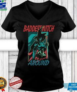 Womens Badest Witch Around Halloween T Shirt 3