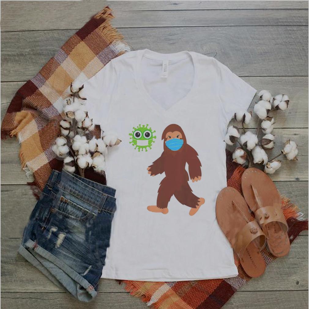 bigfoot face mask corona shirt