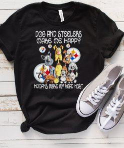 dog and steelers make me happy humans make my head hurt shirt